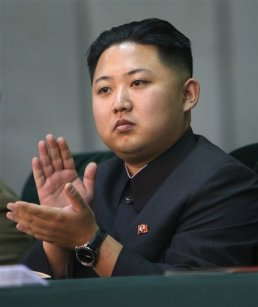 In this Oct. 9, 2010 file photo released by China's Xinhua News Agency, Kim Jong Un, the third son of North Korean leader Kim Jong Il, applauds while watching the Arirang mass games performance staged to celebrate the 65th anniversary of the founding of the Workers' Party of Korea, in Pyongyang, North Korea. (Associated Press)