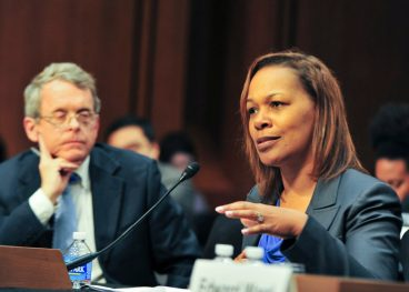 Judith Browne Dianis, co-director of the Advancement Project testifying before Congress on the school-to-prison pipeline. (Photo courtesy Freddie Allen/NNPA)