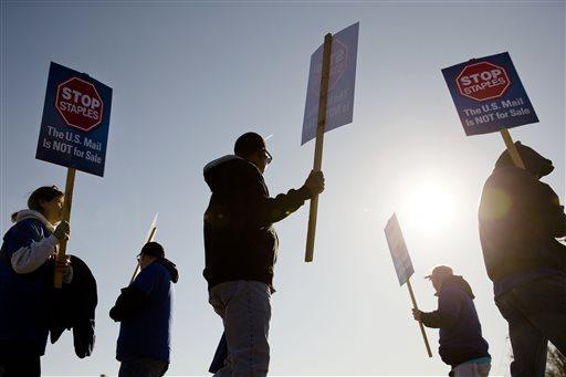 APTOPIX Postal Worker Protest