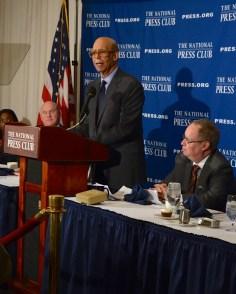 UNCF President Michael Lomax deplores changes in Parent Plus loans.(NNPA Photo by Jazelle Hunt)