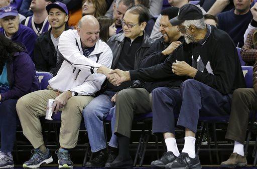 Steve Ballmer, Freddie Brown, Bill Russell