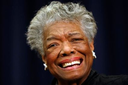"In this Nov. 21, 2008 file photo, poet Maya Angelou is shown in Washington.  Angelou will not attend the 2014 MLB Beacon Awards Luncheon where she will be honored due to issues with her health. Major League Baseball announced Friday, May 23, 2014 because of ""health reasons"" the 86-year-old won't make it to the May 30 event in Houston before the annual Civil Rights Game. (AP Photo/Gerald Herbert, File)"