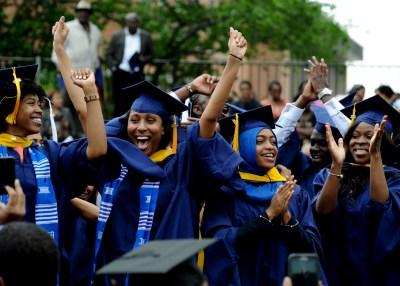 Howard University students graduate but face uncertain future (Freddie Allen/NNPA Photo)