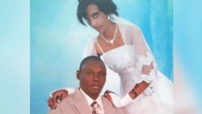 Meriam Yehya Ibrahim Ishag, right, is pictured in this undated image with her husband Daniel Wani, left.