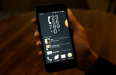 The phone app is demonstrated in carousel mode on the new Amazon Fire Phone, Wednesday, June 18, 2014, in Seattle. (AP Photo/Ted S. Warren)