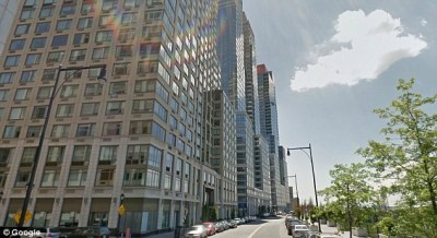 """Extell construction firm is building a new luxury condo on Manhattan's Upper West Side. The developer is seeking tax breaks by building 55 low-income units in the same building, but tenants in the affordable housing section will have to enter the building through the back side """"poor door"""" (Photo: Google)"""