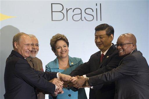 Vladimir Putin, Xi Jinping, Jacob Zuma, Narendra Modi, Dilma Rousseff