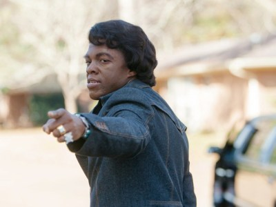 """Chadwick Boseman stars as James Brown in """"Get On Up."""" (Courtesy Photo)"""