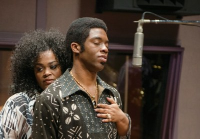 "Chadwick Boseman and Jill Scott in ""Get On Up."" (Courtesy photo)"
