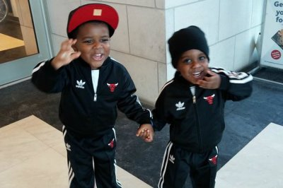 Tunette Powell's sons, JJ (left) and Joah, have been suspended from school eight times combined. (Tunette Powell/Washington Post)
