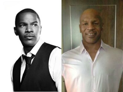 Jamie Foxx (L) is set to portray Mike Tyson ® in a new biopic through the help of CGI technology. (Photo: Facebook/Jamie Foxx/Twitter/@MikeTyson)