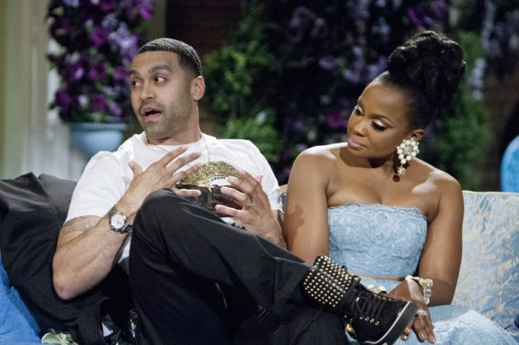 Apollo Nida and wife Phaedra Parks, cast members of Bravo TV's the Real Housewives of Atlanta. (Wilford Harewood/AP Photo courtesy Bravo TV)