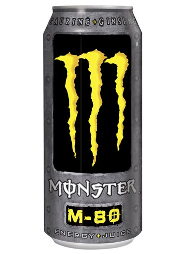 This undated file photo provided by Monster Beverage Company shows a can of Monster M 80 energy drink.  Coca-Cola is buying a 16.7 percent stake in Monster Beverage for $2.15 billion, with the world's biggest soda maker hoping to benefit from the rapid growth of energy drinks in recent years. The Atlanta-based company said Thursday, Aug. 14, 2014, it will also place two directors on Monster's board as part of the deal. (AP Photo/Monster Beverage Company, File)