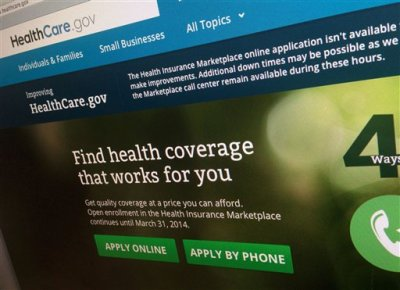 This Nov. 29, 2013, file photo shows a part of the HealthCare.gov website, photographed in Washington. The administration is warning hundreds of thousands of consumers they risk losing taxpayer-subsidized health insurance unless they act quickly to resolve issues about their citizenship and immigration status. (AP Photo/Jon Elswick, File)