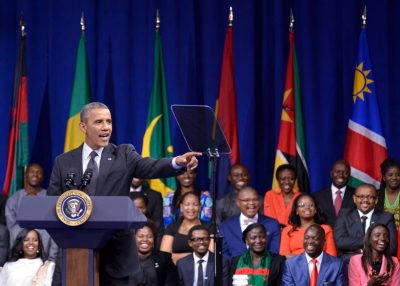 President Obama addresses participants in the Mandela Washington Fellowship for Young African Leaders during a town hall in Washington, D.C. (Freddie Allen/NNPA)