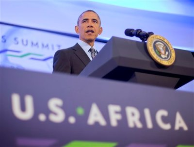 President Barack Obama listens to a question during his news conference at US African Leaders Summit, Wednesday, Aug. 6, 2014 at the State Department in Washington. Obama and dozens of African leaders opened talks Wednesday on two key issues that threaten to disrupt economic progress on the continent: security and government corruption. (AP Photo/Pablo Martinez Monsivais)