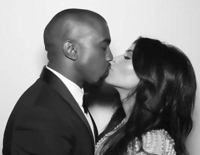 Kanye West and Kim Kardashian (Facebook/Kim Kardashian)
