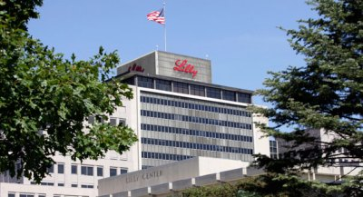 The Eli Lilly corporate headquarters in Indianapolis, Monday, Sept. 14, 2009. (AP Photo/AJ Mast)