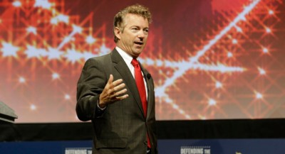 Kentucky Sen. Rand Paul speaks at the Americans for Prosperity gathering Friday, Aug. 29, 2014, in Dallas. Paul and Texas Gov.  (AP Photo/LM Otero)