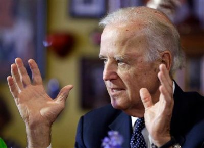 Vice President Joe Biden speaks about the minimum wage at an event at a Mexican restaurant Monday, Oct. 6, 2014, in Las Vegas. Biden is on the first leg of a six-city swing that includes stops in Nevada, California, Oregon and Washington state. (AP Photo/John Locher)