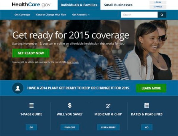 This image shows the website for updated HealthCare,gov, a federal government website managed by the U.S. Centers for Medicare & Medicaid Service. The Obama administration has unveiled an updated version of HealthCare.gov. It's got some improvements and some challenges. There's also at least one early mistake. (AP Photo)