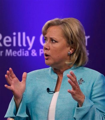 Sen. Mary Landrieu, D-La., participates in a Senate race debate with fellow candidates Republican candidate and Tea Party favorite Rob Maness and Rep. Bill Cassidy, R-La., on the LSU campus in Baton Rouge, La., Wednesday, Oct. 29, 2014. (AP Photo/Gerald Herbert)