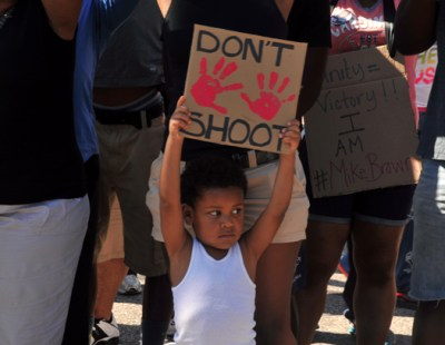 Demonstrators demanding justice for Mike Brown.(Cartan X Mosley/The Final Call)