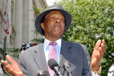 in this  July 9, 2009 file photo, Councilman Marion Barry, former mayor of DC, speaks at a news conference about his recent arrest in Washington, DC.  Barry, who staged a comeback after a 1990 crack cocaine arrest, died early Sunday morning Nov. 23, 2014. He was 78. (AP Photo/Stephen J Boitano, File)