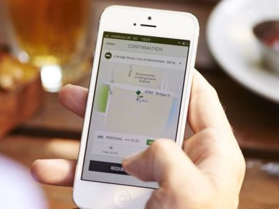 Customers can track their Uber drivers on their smartphone. (Photo: Uber)