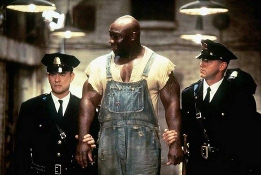 """In """"The Green Mile,"""" Michael Clarke Duncan plays John Coffey, a death row inmate with healing powers."""