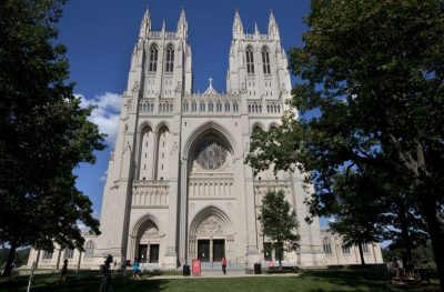 This photo taken in July 2013 shows The National Cathedral in Washington. (Jacquelyn Martin/AP)