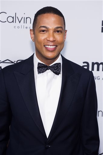 In this June 10, 2014 file photo, Don Lemon attends amfAR's fifth annual Inspiration Gala in New York. CNN newsman Don Lemon apologized Wednesday for graphically interrogating one of the women who has accused Bill Cosby of sexual assault. During the interview with Joan Tarshis aired Tuesday night, Lemon responded to her claim that Cosby performed oral sex by suggesting she might have retaliated instead. Lemon apologized to anyone who found his questioning insensitive. (Photo by Charles Sykes/Invision/AP, File)