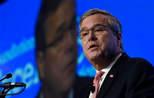 In this Nov. 20, 2014 file photo, former Florida Gov. Jeb Bush speaks in Washington. (AP Photo/Susan Walsh, File)
