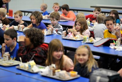 A provision in the federal spending bill prohibits lowering salt limits for school lunches. (Nabil K. Mark/Centre Daily Times/AP)