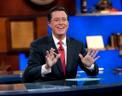 """This Sept. 8, 2010 publicity photo released by Comedy Central shows host Stephen Colbert appears on """"The Colbert Report,"""" in New York.  """"The Colbert Report"""" will end on Thursday, Dec. 18, 2014, after nine seasons. (AP Photo/Comedy Central, Scott Gries)"""