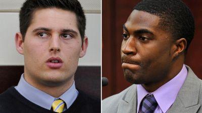 Brandon Vandenburg, right, is seen in court on Jan. 27, 2015. Cory Batey, left, testifies in this Jan. 26, 2015 file photo. (Larry McCormack/AP Photo)