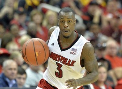 Louisville point guard Chris Jones was dismissed from the team on Sunday, Feb. 22, 2015. (AP photo/Timothy D. Easley)
