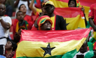 Ghanaian fans at the group match against Portugal in Brasilia. (Marcio Jose Sanchez/AP Photo)