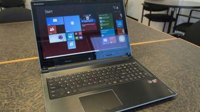 The Lenovo Flex 15D laptop is pictured on April 25, 2014 in Atlanta. (Ron Harris/AP Photo)