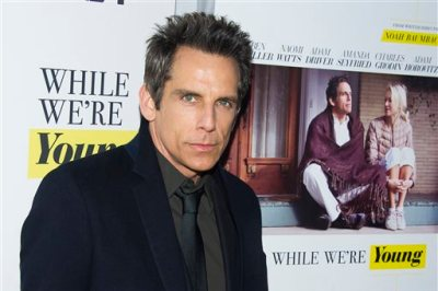 """Ben Stiller attends the premiere of """"While We're Young"""" at the Paris Theatre on Monday, March 23, 2015, in New York. (Photo by Charles Sykes/Invision/AP)"""
