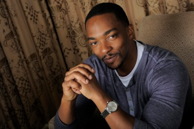 """In this Wednesday, March 12, 2014 photo, Anthony Mackie, a cast member in """"Captain America: The Winter Soldier,"""" poses for a portrait in Beverly Hills, Calif. (Photo by Chris Pizzello/Invision/AP)"""