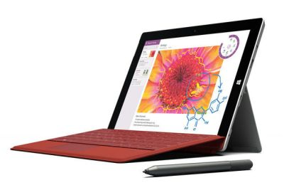 This product image provided by Microsoft shows the company's new Surface 3 tablet. Microsoft is making the cheaper version of its Surface Pro 3 tablet computer in an effort to reach more people. (AP Photo/Microsoft)