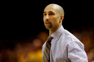 Former VCU head coach Shaka Smart looks on during the first half of an NCAA college basketball game against Saint Louis, Saturday, March 1, 2014, in Richmond, Va. (AP Photo/Jason Hirschfeld)