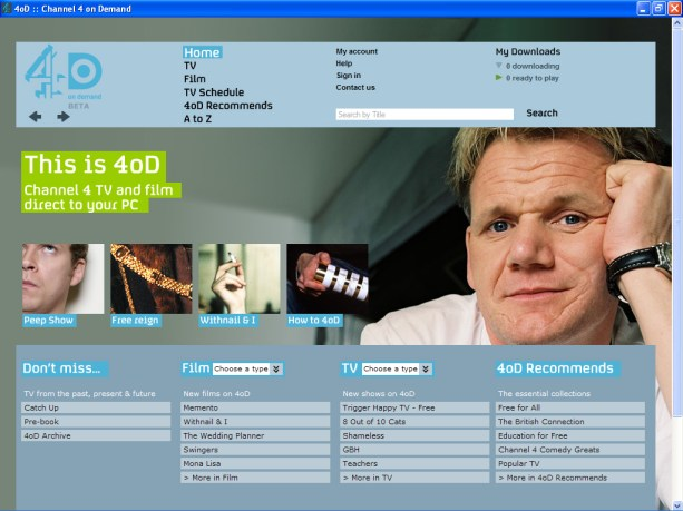 4oD, Internet TV on demand. (Dan Taylor/Flickr/CC BY 2.0)