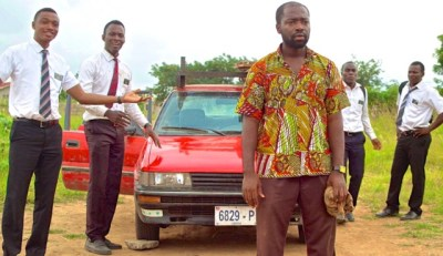 """Henry Adofo and the cast of """"Freetown"""""""