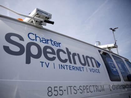 A Charter Communications van in Town and Country, Mo. (Jeff Roberson/AP Photo)