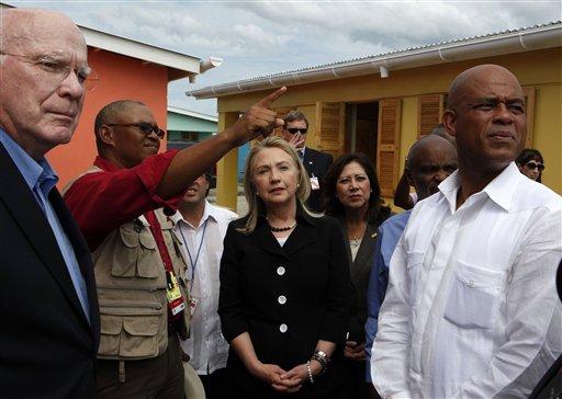 Hillary Rodham Clinton, Patrick Leahy, Hilda Solis, Michel Martelly, Mario Nicoleau