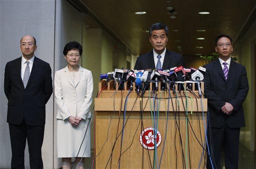 Raymond Tam, Carrie Lam, Leung Chun-ying, Rimsky Yuen