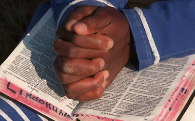 Black Praying/Prayer Hands