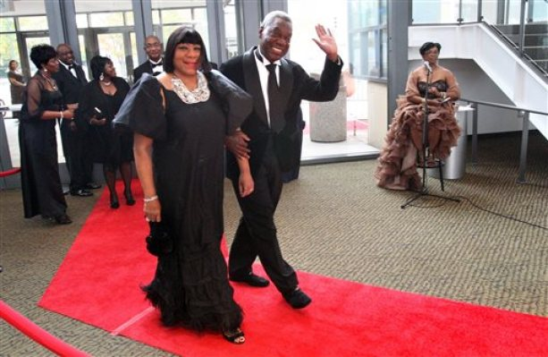 This Nov. 12, 2011, photo shows Adrienne Bailey and her husband Judge D'Army Bailey, civil rights activist and a founder of the National Civil Rights Museum, walk on the red carpet as they arrive with other dignitaries and guests to the 2011 Freedom Awards at the Cannon Center for the Performing Arts in Memphis, Tenn. Bailey, a lawyer and judge who helped preserve the Memphis hotel where civil rights leader Martin Luther King Jr. was assassinated and turn it into National Civil Rights Museum, died on Sunday, July 12, 2015, his wife said. He was 73.  (Mike Maple/The Commercial Appeal via AP)